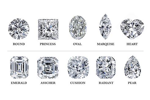 An array of different diamonds on display - diamond exchange cash