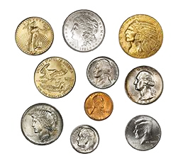 A collection of historical coins - what we pawn