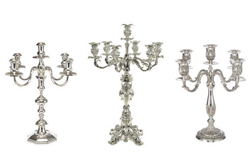 Sterling Silverware Candlesticks - sterling silver flatware