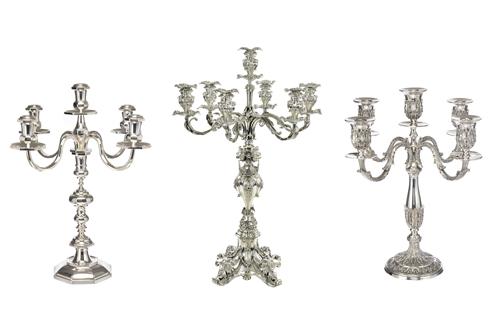 Sterling Silverware Candlesticks - sterling silver flatware
