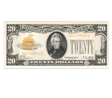 A $20 US bill - what we pawn