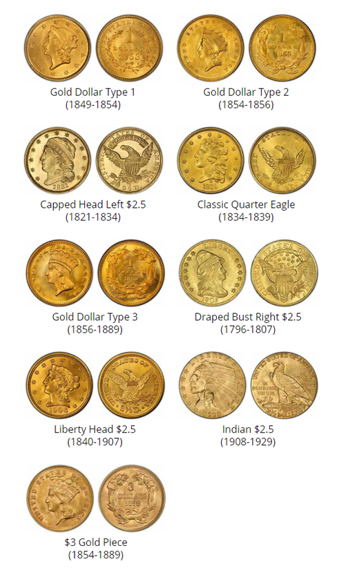 Examples of $1 - $3 coins - coin buyers near me
