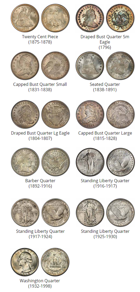 Examples of quarters - coin buyers near me