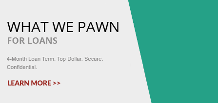 A banner indicating what we sell - pawn shop in ma