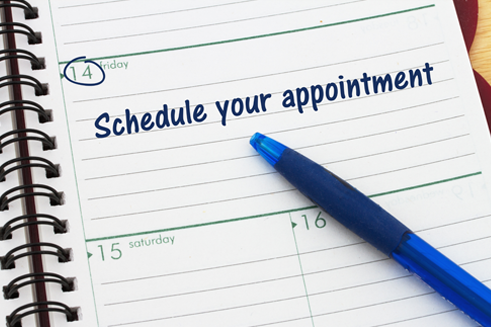Schedule your appointment written on a notepad - pawn shop services